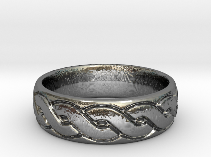 Celtic knot seamless Ring 3 3d printed
