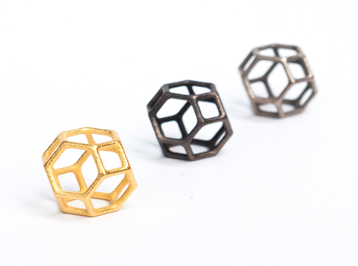 Polyhedral Jewelry: Truncated Octahedron 3d printed