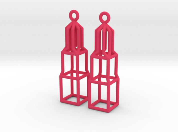 Nylon Dom Earrings 3d printed