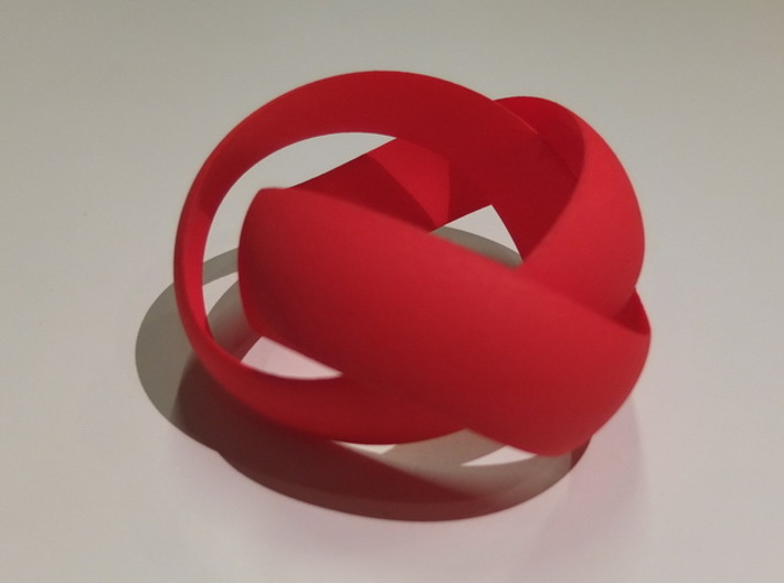 Double Swing Grooved Ring 3d printed