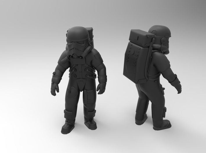 star wars withe soldier 3d printed