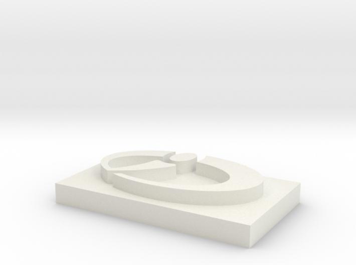 CCI Logo for Cufflink (attn Joris) 3d printed