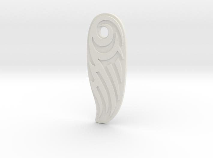 Pendant with Tribal Design 3d printed