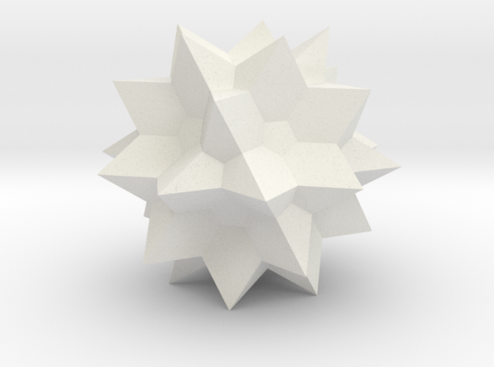 Great Icosidodecahedron 3d printed