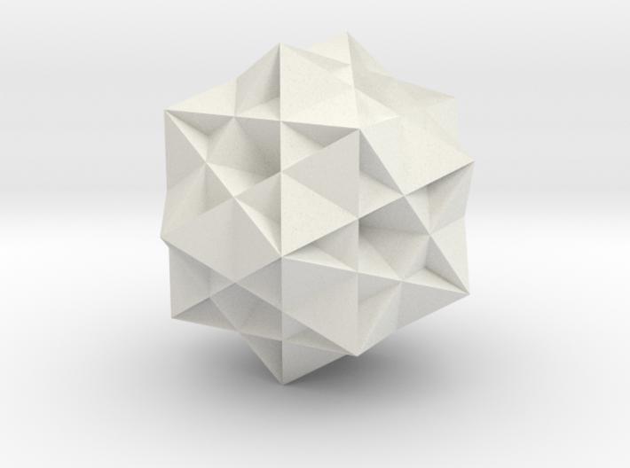 Great Ditrigonal Icosidodecahedron 3d printed