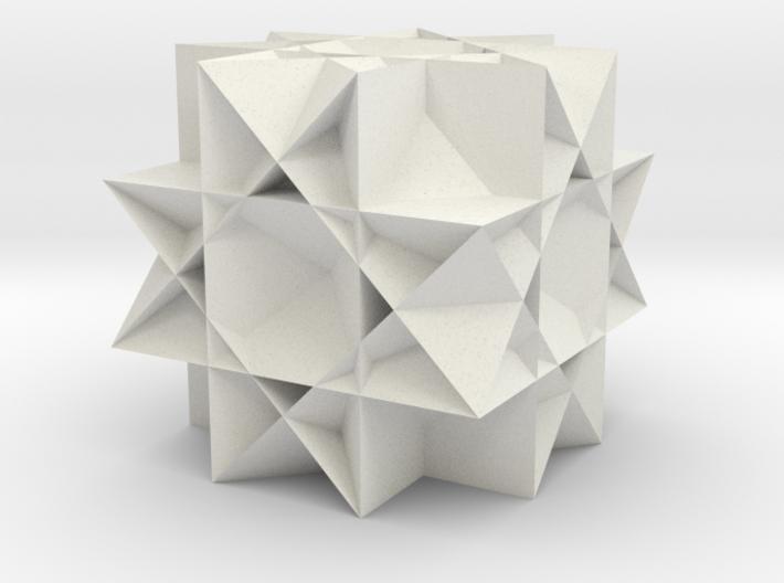 Uniform Gt. Rhombicuboctahedron 3d printed