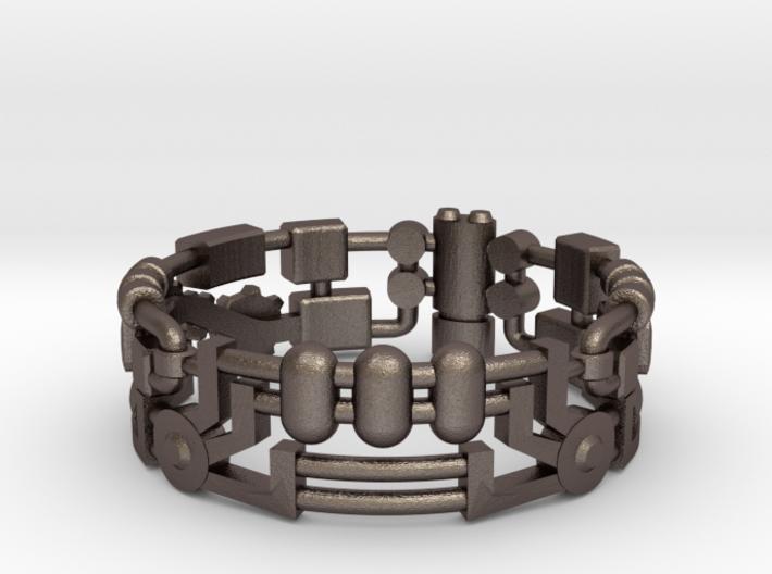 Mecha Ring (size 15ish in metal) 3d printed