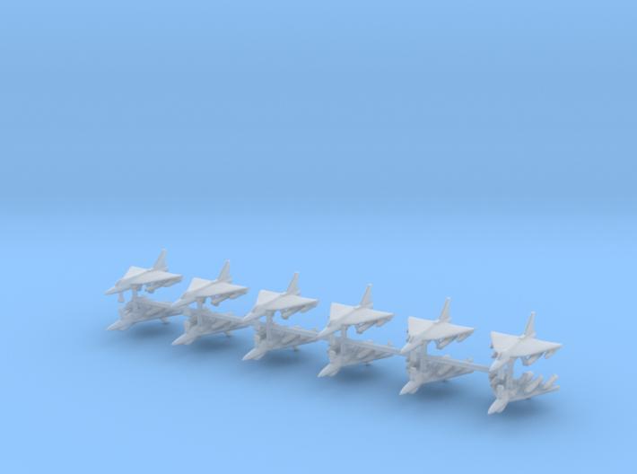 1/700 HAL Tejas Fighter Jet (x12) 3d printed