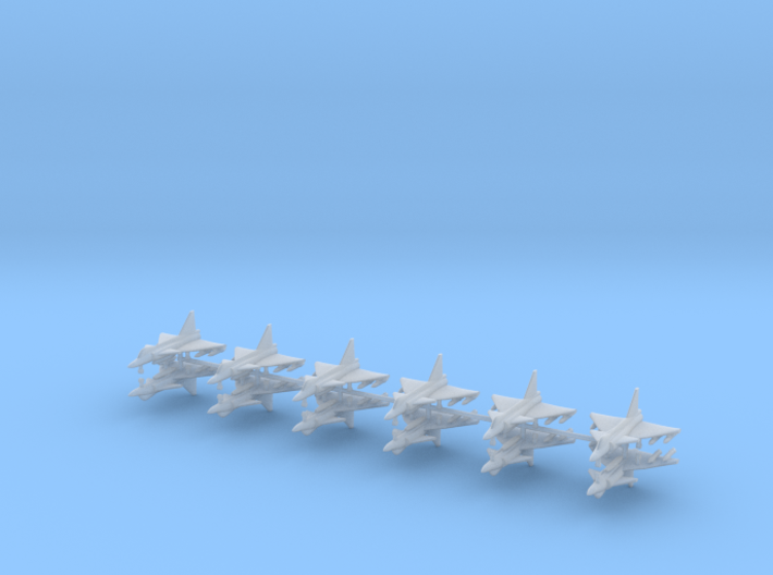 1/700 SAAB 37 Viggen (x12) 3d printed