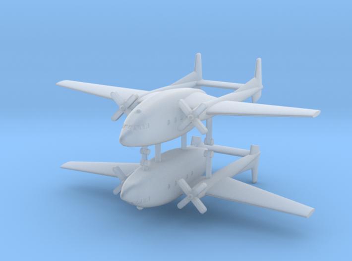 1/700 Fairchild C-119 Boxcar (x2) 3d printed