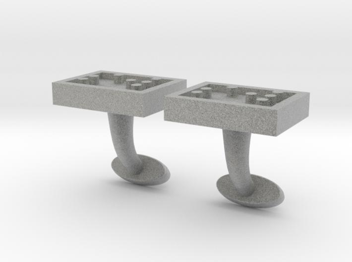 Braille cufflinks rectangle 3d printed