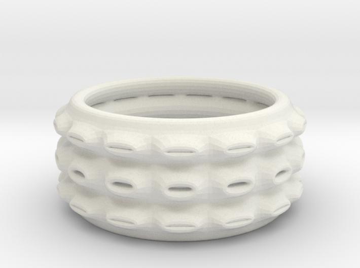 holey ring 3 3d printed