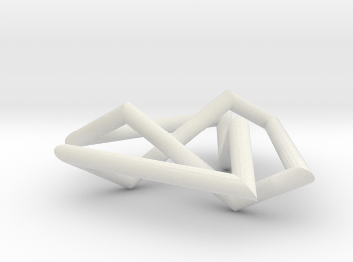 flat trefoil 3d printed