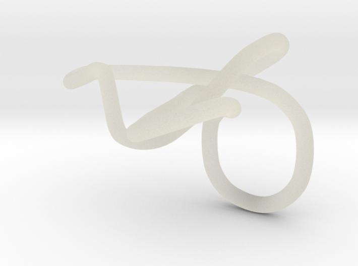 ring rood kronkels goed klein 3d printed