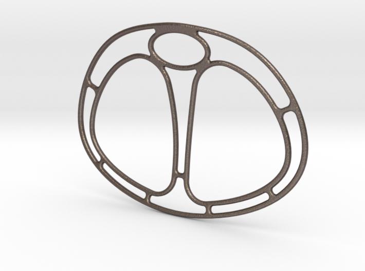 Winter Cross Scarf Ring 3d printed