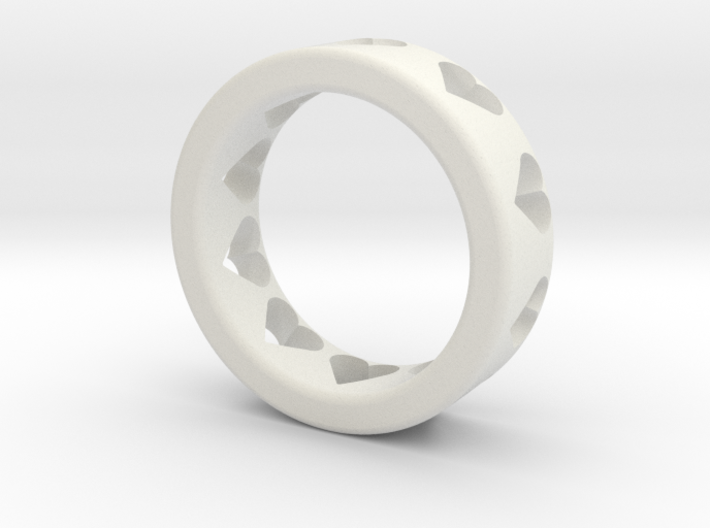 large adult heart ring 3d printed