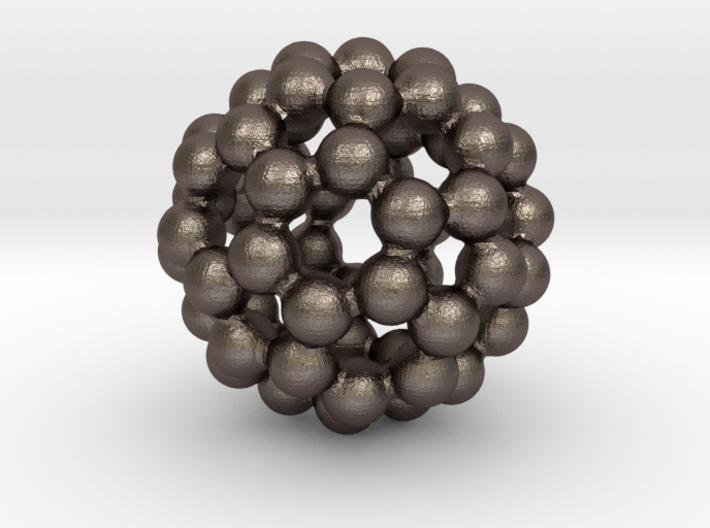 C60 - Buckyball - M - Steel 3d printed