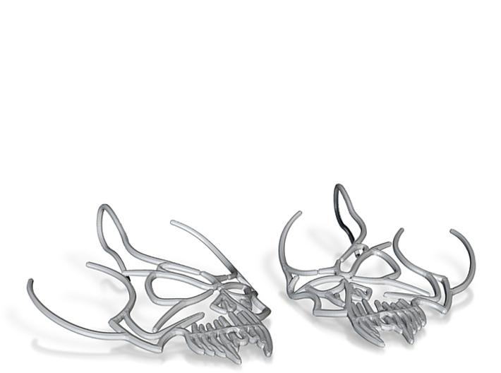 Tribal Skull earring 3d printed