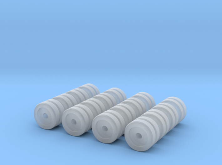 Zscale Dual Wheels 3d printed