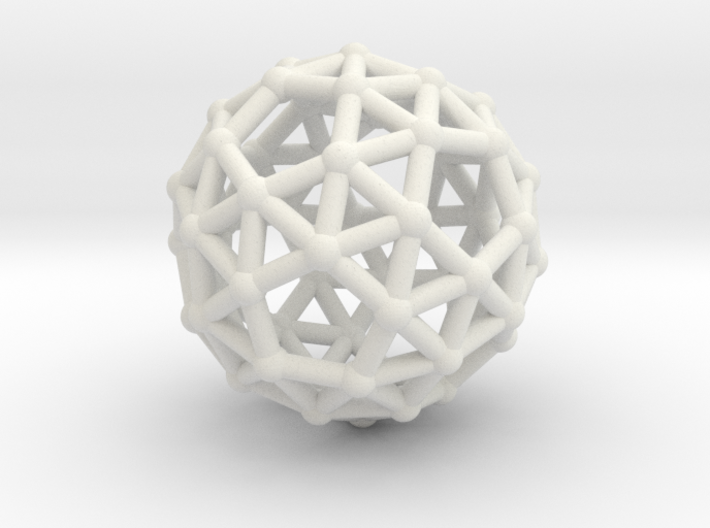 Snub dodecahedron (chiral) 3d printed