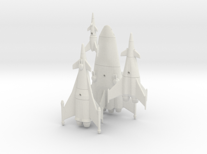 Earth War Rocket Fleet 3d printed