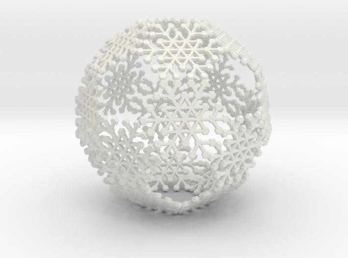 Snowflake #6 Ball Ornament 3d printed