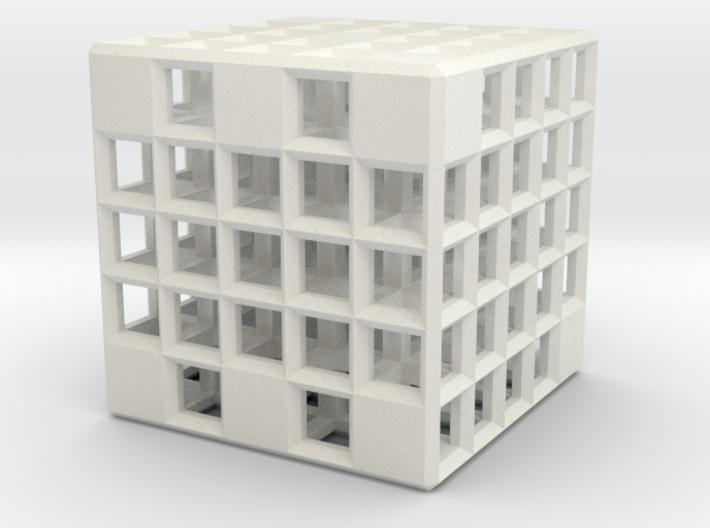 Steel Grid Die #3 (2.5 cm) 3d printed