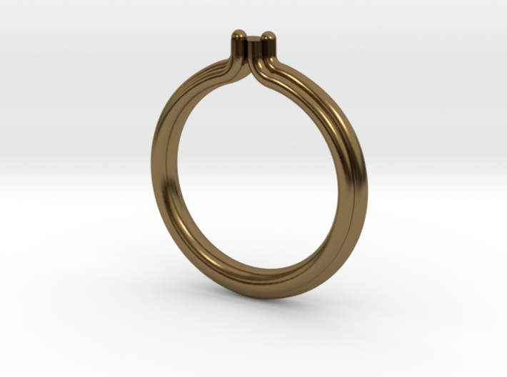 BAROQUE RING - SIZE 8 3d printed