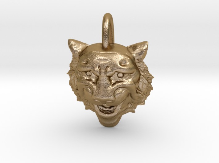 Leopard's head for pendant 3d printed