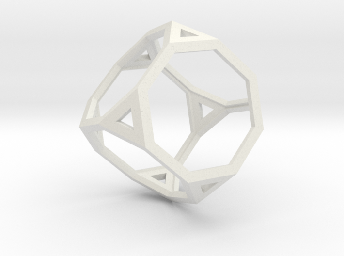 Truncated cube 3d printed