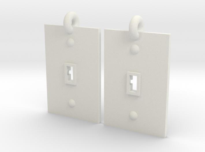 Turned on/off earrings 3d printed
