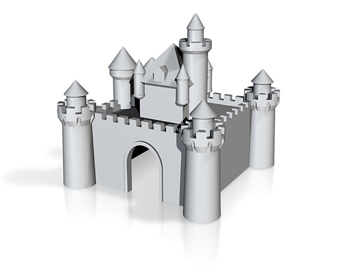 Castle - Ceramic - Z scale 3d printed