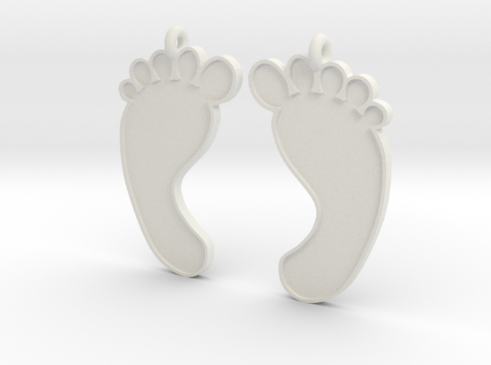 Barefoot Earrings 3d printed