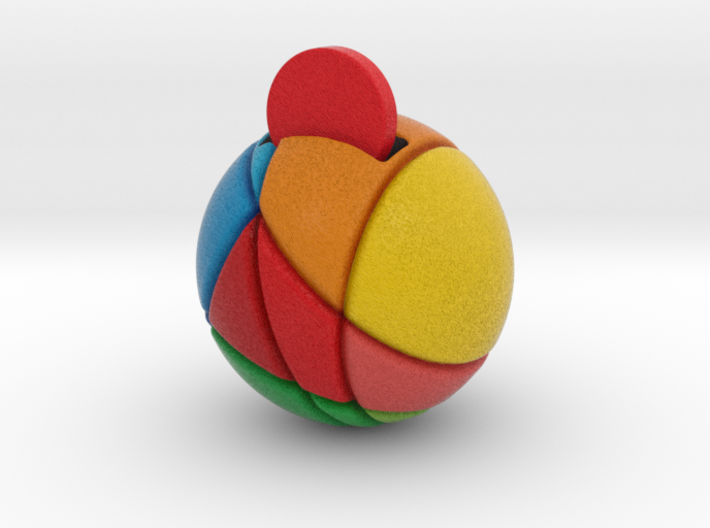 ReddCoin Spherical Logo 3d printed Rotated funny for printing reasons. See next image for quick ZBrush render of object with intended stand.