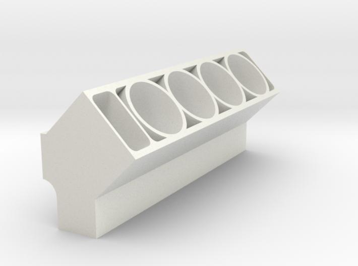 Engine Block (Half) 3d printed
