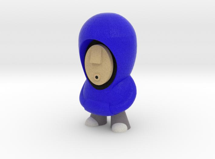 Blue Hoodie 7cm 3d printed