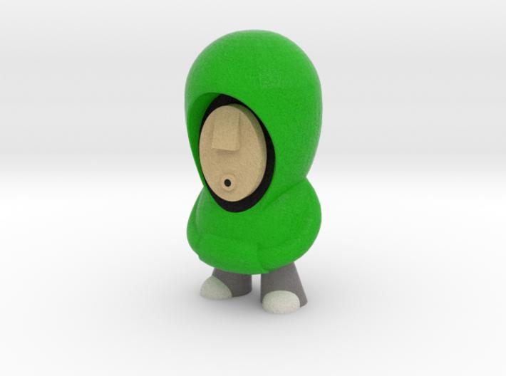 Green Hoodie 7cm 3d printed