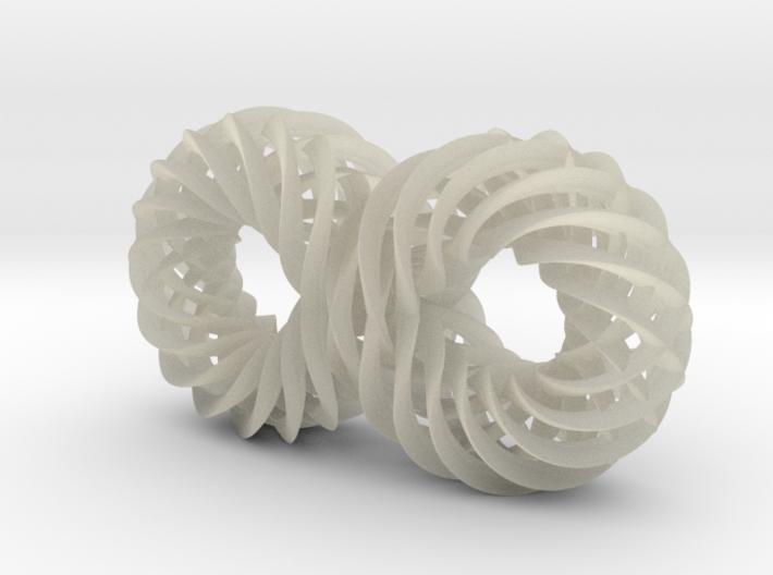 Quadruple Spiralling Infinity 3d printed