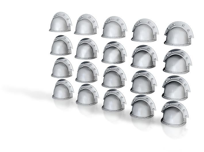 20 Heroic/TrueScale Custom Shoulder Pad Plain Doub 3d printed