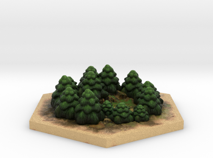 Catan_forest_hexagon 3d printed