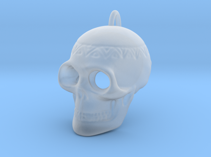 Pendant Skull (with pendant ring) 3d printed
