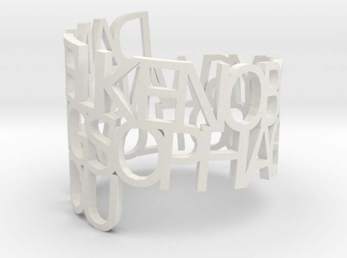 Ring Poemsophia 3d printed