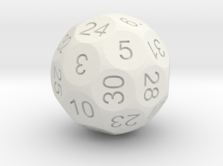 D32 Sphere Dice 3d printed In Alumide