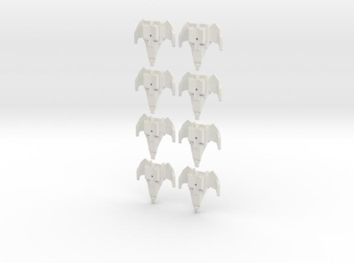 Drakon Wraith Fleet x8 3d printed