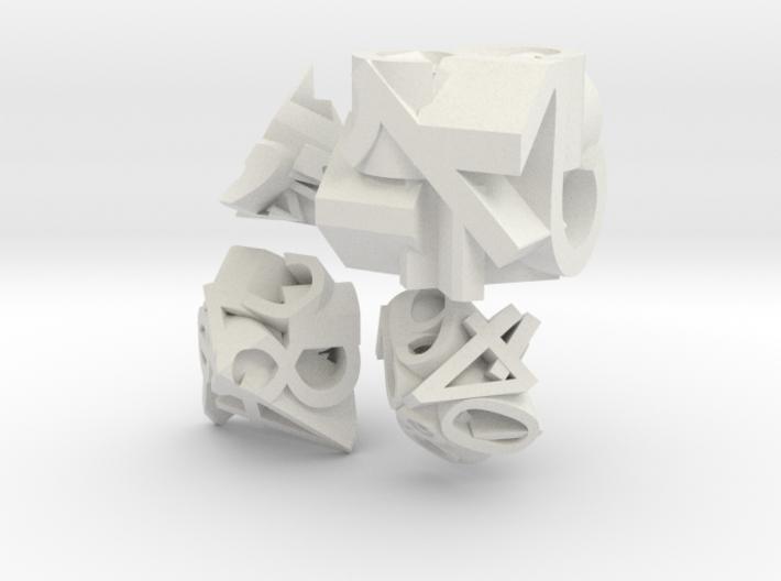 Frameless Single Digit Set 3d printed