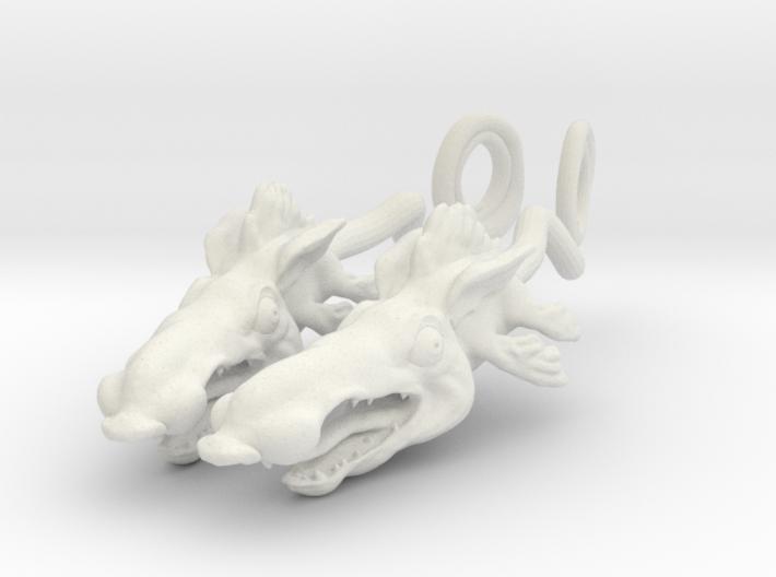 Ratfish Earrings 3d printed