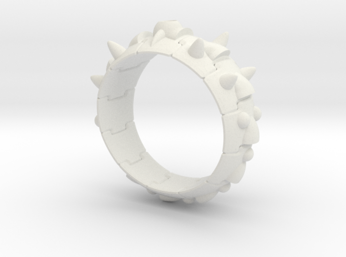 Armor Ring 01 (with the hole which sets the stone) 3d printed