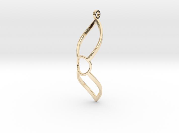 Diamond Loop Pendant (large) 3d printed