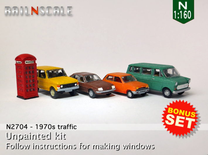 BONUS SET 1970s Traffic (N 1:160) 3d printed