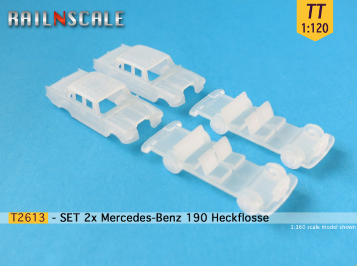 SET 2x Mercedes-Benz 190 (TT 1:120) 3d printed
